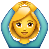 Face With Ok Gesture whatsapp emoji
