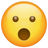 Face With Open Mouth whatsapp emoji