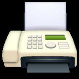 Fax Machine whatsapp emoji