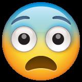 Fearful Face whatsapp emoji
