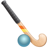 Field Hockey Stick And Ball whatsapp emoji