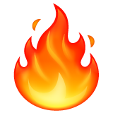 Fire whatsapp emoji
