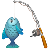 Fishing Pole And Fish whatsapp emoji