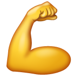Flexed Biceps whatsapp emoji