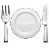 Fork And Knife With Plate whatsapp emoji