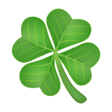 Four Leaf Clover whatsapp emoji