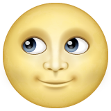 Full Moon With Face whatsapp emoji
