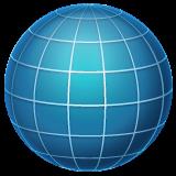 Globe With Meridians whatsapp emoji