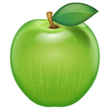 Green Apple whatsapp emoji