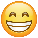 Grinning Face With Smiling Eyes whatsapp emoji