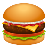 Hamburger whatsapp emoji