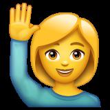 Happy Person Raising One Hand whatsapp emoji