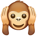Hear-no-evil Monkey whatsapp emoji