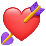 Heart With Arrow whatsapp emoji