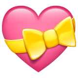 Heart With Ribbon whatsapp emoji