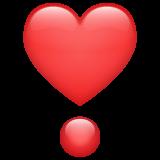 Heavy Heart Exclamation Mark Ornament whatsapp emoji