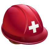 Helmet With White Cross whatsapp emoji