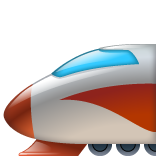 High-speed Train With Bullet Nose whatsapp emoji
