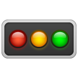 Horizontal Traffic Light whatsapp emoji