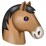 Horse Face whatsapp emoji