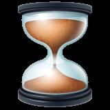 Hourglass With Flowing Sand whatsapp emoji
