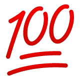 Hundred Points Symbol whatsapp emoji