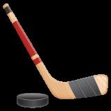 Ice Hockey Stick And Puck whatsapp emoji