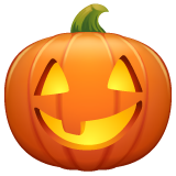 Jack-o-lantern whatsapp emoji