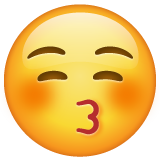 Kissing Face With Closed Eyes whatsapp emoji