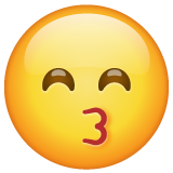 Kissing Face With Smiling Eyes whatsapp emoji