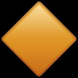 Large Orange Diamond whatsapp emoji