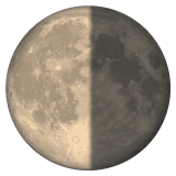 Last Quarter Moon Symbol whatsapp emoji