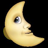 Last Quarter Moon With Face whatsapp emoji