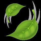 Leaf Fluttering In Wind whatsapp emoji