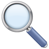Left-pointing Magnifying Glass whatsapp emoji