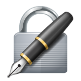 Lock With Ink Pen whatsapp emoji