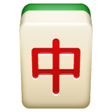 Mahjong Tile Red Dragon whatsapp emoji