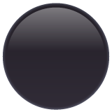Medium Black Circle whatsapp emoji