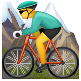 Mountain Bicyclist whatsapp emoji