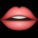 Mouth whatsapp emoji