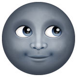 New Moon With Face whatsapp emoji