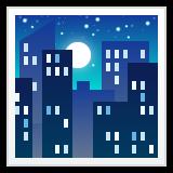 Night With Stars whatsapp emoji