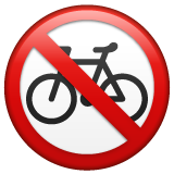No Bicycles whatsapp emoji