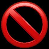 No Entry Sign whatsapp emoji
