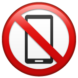 No Mobile Phones whatsapp emoji