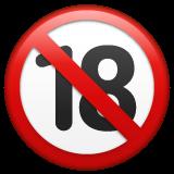 No One Under Eighteen Symbol whatsapp emoji