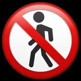 No Pedestrians whatsapp emoji