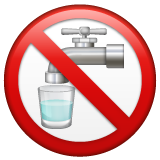 Non-potable Water Symbol whatsapp emoji