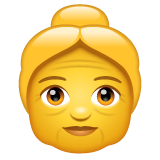 Older Woman whatsapp emoji