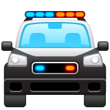 Oncoming Police Car whatsapp emoji